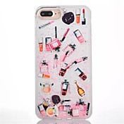 Funda Para Apple iPhone 8 iPhone 8 Plus Líquido Traslúcido Funda Trasera Chica Sexy Dura ordenador personal para iPhone 8 Plus iPhone 8