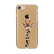 Funda Para Apple iPhone 7 Plus iPhone 7 Transparente Diseños Funda Trasera Caricatura Suave TPU para iPhone 7 Plus iPhone 7 iPhone 6s