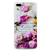 Funda Para iPhone 7 Plus iPhone 7 Apple Diseños Funda Trasera Flor Suave TPU para iPhone 7 Plus iPhone 7