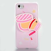 Para IMD Espejo Manualidades Funda Cubierta Trasera Funda Chica Sexy Suave TPU para AppleiPhone 7 Plus iPhone 7 iPhone 6s Plus iPhone 6