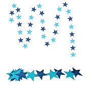 raylinedo® 1 stk 4 meter blått papir krans for bryllup bursdag jubileum fest jule jenter room decoration stjerner forme 7 * 7cm