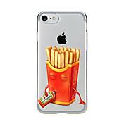 Funda Para Apple iPhone 7 Plus iPhone 7 Transparente Diseños Funda Trasera Comida Suave TPU para iPhone 7 Plus iPhone 7 iPhone 6s Plus