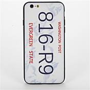 Para Diseños Funda Cubierta Trasera Funda Palabra / Frase Dura Policarbonato para AppleiPhone 7 Plus iPhone 7 iPhone 6s Plus iPhone 6