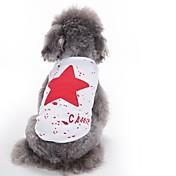 Kat Hund Vest Hundeklær Søtt Fritid/hverdag Mote Stjerner Rød Blå Svart Kostume For kjæledyr