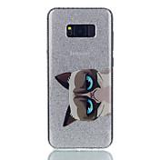 Etui Til Samsung Galaxy S8 Plus S8 IMD Mønster Bakdeksel Katt Glimtende Glitter Hard PC til S8 S8 Plus S7 edge S7