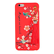 Para Manualidades Funda Cubierta Trasera Funda Flor Suave TPU para AppleiPhone 7 Plus iPhone 7 iPhone 6s Plus iPhone 6 Plus iPhone 6s