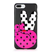 Para Manualidades Funda Cubierta Trasera Funda Dibujo 3D Suave TPU para AppleiPhone 7 Plus iPhone 7 iPhone 6s Plus iPhone 6 Plus iPhone