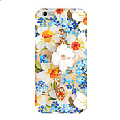 Para Diseños Manualidades Funda Cubierta Trasera Funda Flor Dura Policarbonato para AppleiPhone 7 Plus iPhone 7 iPhone 6s Plus iPhone 6