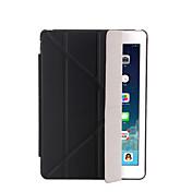 Etui Til Apple iPad Mini 4 iPad Mini 3/2/1 iPad 4/3/2 iPad Air 2 iPad Air med stativ Autodvale / aktivasjon Flipp Gjennomsiktig Origami