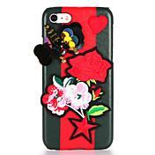 용 DIY 케이스 뒷면 커버 케이스 꽃장식 버터플라이 하드 인조 가죽 용 Apple 아이폰 7 플러스 아이폰 (7) iPhone 6s Plus iPhone 6 Plus iPhone 6s 아이폰 6
