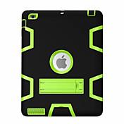 Etui Til Apple iPad Mini 4 iPad Mini 3/2/1 iPad 4/3/2 iPad Air 2 iPad Air Støtsikker med stativ 360° rotasjon Heldekkende etui Geometrisk