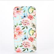 Para En Relieve Diseños Funda Cubierta Trasera Funda Flor Dura Policarbonato para AppleiPhone 7 Plus iPhone 7 iPhone 6s Plus iPhone 6