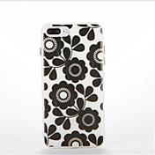 Para Fosforescente Diseños Funda Cubierta Trasera Funda Flor Suave TPU para AppleiPhone 7 Plus iPhone 7 iPhone 6s Plus iPhone 6 Plus