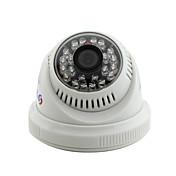 Yanse® cctv casa vigilancia ir cortar cúpula cámara de seguridad - 24pcs leds infrarrojos