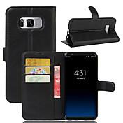 Etui Til Samsung Galaxy S8 Plus S8 Kortholder Lommebok Støtsikker med stativ Heldekkende etui Helfarge Hard PU Leather til S8 Plus S8 S7