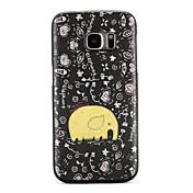 Funda Para Samsung Galaxy S7 edge S7 Diseños Cubierta Trasera Caricatura Suave TPU para S7 edge S7