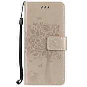 Etui Til Samsung Galaxy S8 Plus S8 Kortholder Lommebok med stativ Flipp Inngravert Heldekkende etui Tre Hard PU Leather til S8 Plus S8 S7