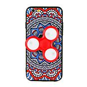 Para Carcasa Funda Fidget spinner Diseños Manualidades Cubierta Trasera Funda Mandala Dibujo 3D Dura TPU para AppleiPhone 7 Plus iPhone 7