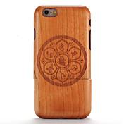 Funda Para iPhone 6s / iPhone 6 / Apple En Relieve / Diseños Funda Trasera Fibra de Madera / Mandala Dura De madera para