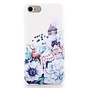 Para Carcasa Funda Diseños Cubierta Trasera Funda Animal Flor Suave TPU para AppleiPhone 7 Plus iPhone 7 iPhone 6s Plus iPhone 6 Plus