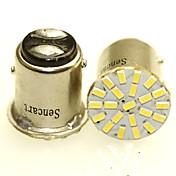 Sencart 2 x 1157 ba15d p21 / 5w 22x3014smd llevó las luces indicadoras del lado de la cola del automóvil que encienden el bulbo de lámpara