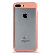 Para la manzana iphone7 7 más la cubierta transparente de la caja de la contraportada de la caja cubierta dura del color sólido 6s más 6