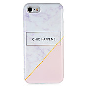 Funda Para Apple iPhone 7 Plus iPhone 7 IMD Diseños Funda Trasera Palabra / Frase Mármol Suave TPU para iPhone 7 Plus iPhone 7 iPhone 6s
