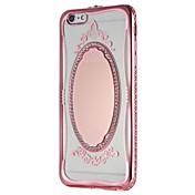 Funda Para Apple iPhone 7 Plus iPhone 7 Espejo Diseños Funda Trasera Brillante Impresión de encaje Suave TPU para iPhone 7 Plus iPhone 7