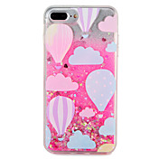 Funda Para Apple iPhone 7 Plus iPhone 7 Líquido Diseños Funda Trasera Brillante Globo Dura ordenador personal para iPhone 7 Plus iPhone 7