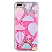 Etui Til Apple iPhone 7 Plus iPhone 7 Flommende væske Mønster Bakdeksel Glimtende Glitter Ballong Hard PC til iPhone 7 Plus iPhone 7