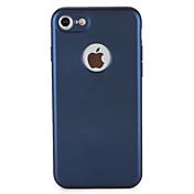 Funda Para Apple iPhone 7 Plus iPhone 7 Antipolvo Funda de Cuerpo Entero Color sólido Suave TPU para iPhone 7 Plus iPhone 7 iPhone 6s