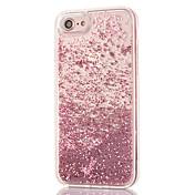 Para iPhone 8 iPhone 8 Plus Carcasa Funda Diamantes Sintéticos Líquido Transparente Cubierta Trasera Funda Brillante Dura Policarbonato