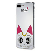 Funda Para Apple iPhone 7 Plus iPhone 7 Diseños Funda Trasera Gato Suave TPU para iPhone 7 Plus iPhone 7 iPhone 6s Plus iPhone 6s iPhone
