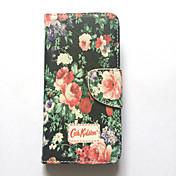 Funda Para iPhone 6s iPhone 6 Apple Soporte de Coche Cartera con Soporte Flip Diseños Funda de Cuerpo Entero Flor Dura Cuero de PU para
