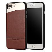 애플 아이폰 7 플러스 아이폰 6s 6 플러스 아이폰 5s 5 케이스에 대 한 경우 스틱 가죽 스틱 금속 휴대폰 케이스 커버