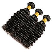 Indisk hår Dyp Bølge Hårvever med menneskehår 1 Deler 0.1