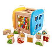 역할 놀이 장난감 악기 교육용 장난감 선물 조립식 블럭 네츄럴 우드 3-6년 이전 장난감