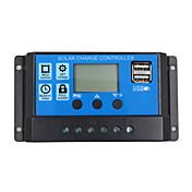 24V 12V auto solpanel batteriladningsregulator 10a pwm LCD-skjerm solfangerregulator med dobbel USB-utgang