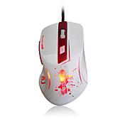 Ajazz-aj100 primer ratón láser de sangre 8200 ppp 6 botón óptico led usb cableado juego ratón a9800