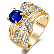 Mujer Anillo Anillo de declaración Cristal Negro Verde Azul Resina Cromo Otros Personalizado Lujo Diseño Único Clásico Vintage Diamante