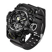 SANDA Hombre Reloj Deportivo Reloj Militar Reloj elegante Reloj de Moda Reloj de Pulsera Japonés Digital LED Dos Husos Horarios Monitores