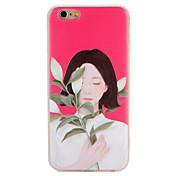 케이스 제품 Apple iPhone 7 Plus iPhone 7 패턴 엠보싱 텍스쳐 뒷면 커버 섹시 레이디 꽃장식 소프트 TPU 용 iPhone 7 Plus iPhone 7 iPhone 6s Plus iPhone 6s iPhone 6 Plus