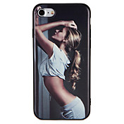 Funda Para iPhone 7 Plus iPhone 7 iPhone 6s Plus iPhone 6 Plus iPhone 6s iPhone 6 iPhone 5 Apple Diseños En Relieve Funda Trasera Chica