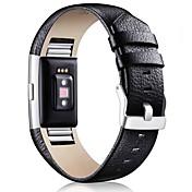 Ver Banda para Fitbit Charge 2 Fitbit Hebilla Clásica Piel Correa de Muñeca