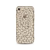 Etui Til Apple iPhone X iPhone 8 Plus Gjennomsiktig Mønster Bakdeksel Flise Blomsternål i krystall Myk TPU til iPhone X iPhone 8 Plus