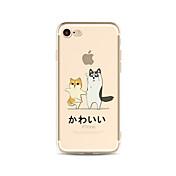 Funda Para Apple iPhone X iPhone 8 Plus Transparente Diseños Cubierta Trasera Perro Suave TPU para iPhone X iPhone 8 Plus iPhone 8 iPhone