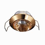 1W LED Mulighet for demping Innfelt lampe Varm hvit 220V