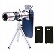 Lingwei 18x zoom samsung kamera teleobjektiv vidvinkelobjektiv / stativ / telefonholder / hardtui / veske / rengjøringsklut (samsung s8 /