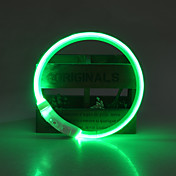 Perro Cuello Luces LED Ajustable / Retractable Recargable Seguridad Un Color TPU Amarillo Rojo Verde Azul Rosa