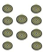 10pcs 3W 500lm GU10 LED-spotpærer 48 LED perler SMD 2835 Dekorativ Varm hvit Kjølig hvit 12V